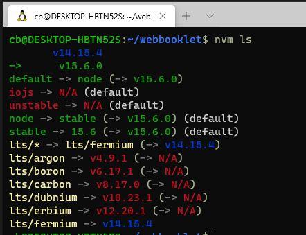 Mehrer Node Js Versionen installiert